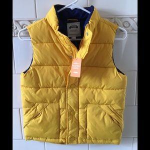 NWT Gymboree Yellow Puffer Vest M (7-8)